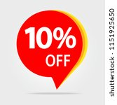 10  off sale discount banner.... | Shutterstock . vector #1151925650