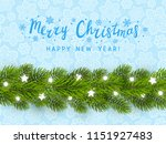 greeting card with christmas... | Shutterstock .eps vector #1151927483