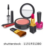 illustration of cometics and... | Shutterstock . vector #1151931380
