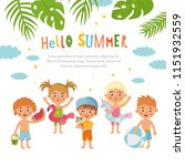hello summer  amazing childish... | Shutterstock .eps vector #1151932559