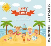 hello summer  amazing childish... | Shutterstock .eps vector #1151932580