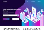 online healthcare consultation... | Shutterstock .eps vector #1151933276