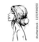 woman fashion model beautiful...   Shutterstock .eps vector #1151934053