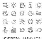 time line icons. set of... | Shutterstock .eps vector #1151934746