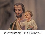 statues of saint joseph and... | Shutterstock . vector #1151936966