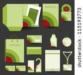 stationery design template | Shutterstock .eps vector #115193773