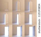 a door is opened for nine... | Shutterstock . vector #115193854