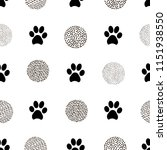 seamless patterns with animal... | Shutterstock .eps vector #1151938550