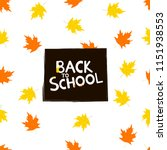 back to school background with... | Shutterstock .eps vector #1151938553
