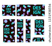 web banners set with creative... | Shutterstock .eps vector #1151938556