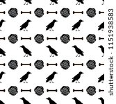 seamless pattern with black... | Shutterstock .eps vector #1151938583