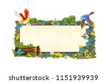 cartoon scene with frame for... | Shutterstock . vector #1151939939