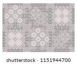 arabic style carpet ornament... | Shutterstock .eps vector #1151944700