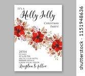 merry christmas invitation...   Shutterstock .eps vector #1151948636