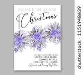 violet poinsettia merry... | Shutterstock .eps vector #1151948639