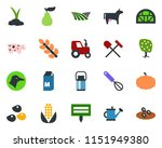 colored vector icon set   field ... | Shutterstock .eps vector #1151949380