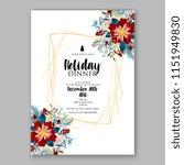 floral winter wreath vector... | Shutterstock .eps vector #1151949830
