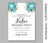 blue frosty floral winter... | Shutterstock .eps vector #1151949833