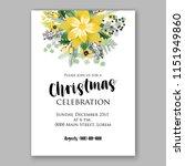 floral winter wreath vector... | Shutterstock .eps vector #1151949860