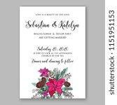 beautiful poinsettia wedding... | Shutterstock .eps vector #1151951153