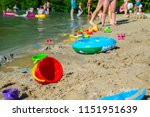 inflatable ring kids toys at... | Shutterstock . vector #1151951639