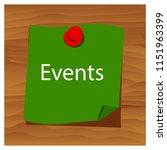 reminder paper word events... | Shutterstock .eps vector #1151963399