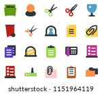 colored vector icon set  ... | Shutterstock .eps vector #1151964119
