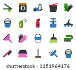 colored vector icon set  ... | Shutterstock .eps vector #1151964176