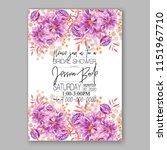 floral wedding invitation... | Shutterstock .eps vector #1151967710
