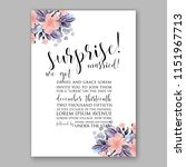 floral wedding invitation... | Shutterstock .eps vector #1151967713