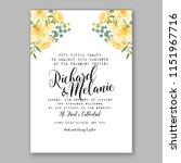 floral wedding invitation... | Shutterstock .eps vector #1151967716