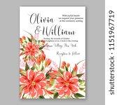 floral wedding invitation... | Shutterstock .eps vector #1151967719