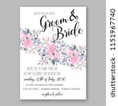 floral wedding invitation... | Shutterstock .eps vector #1151967740