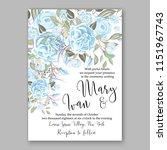 floral wedding invitation... | Shutterstock .eps vector #1151967743