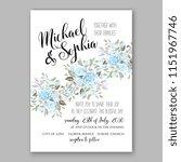 floral wedding invitation... | Shutterstock .eps vector #1151967746