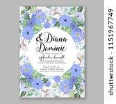 floral wedding invitation... | Shutterstock .eps vector #1151967749