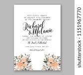 floral wedding invitation... | Shutterstock .eps vector #1151967770