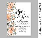 floral wedding invitation... | Shutterstock .eps vector #1151967773