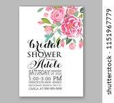 floral wedding invitation... | Shutterstock .eps vector #1151967779