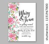floral wedding invitation... | Shutterstock .eps vector #1151967800