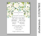 floral wedding invitation... | Shutterstock .eps vector #1151967803