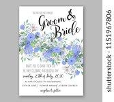 floral wedding invitation...   Shutterstock .eps vector #1151967806
