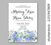 floral wedding invitation... | Shutterstock .eps vector #1151967809