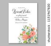 floral wedding invitation... | Shutterstock .eps vector #1151967830