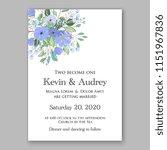 floral wedding invitation... | Shutterstock .eps vector #1151967836