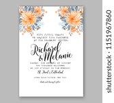 floral wedding invitation... | Shutterstock .eps vector #1151967860