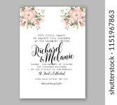 floral wedding invitation... | Shutterstock .eps vector #1151967863