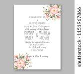 floral wedding invitation... | Shutterstock .eps vector #1151967866