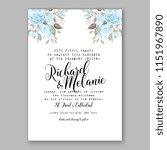floral wedding invitation... | Shutterstock .eps vector #1151967890