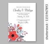 floral wedding invitation... | Shutterstock .eps vector #1151967893